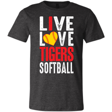 Load image into Gallery viewer, I Live Love Tigers Softball Youth Jersey Short Sleeve T-Shirt