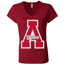 Load image into Gallery viewer, Classic A Logo Ladies' Jersey V-Neck T-Shirt
