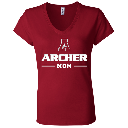 Archer Mom  Ladies' Jersey V-Neck T-Shirt