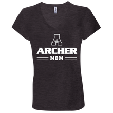 Load image into Gallery viewer, Archer Mom  Ladies' Jersey V-Neck T-Shirt