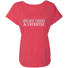Load image into Gallery viewer, Archer LaCrosse Bar Logo  Ladies' Triblend Dolman Sleeve