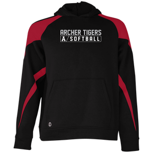 Archer Softball Bar Logo  Youth Colorblock Hoodie