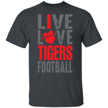 Load image into Gallery viewer, Live Love Tigers Football Youth Special SS Tee