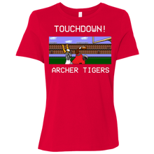 Load image into Gallery viewer, Archer Football 8 Bit Ladies' Relaxed Jersey Short-Sleeve T-Shirt