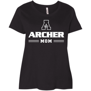 Archer Mom Ladies' Curvy T-Shirt