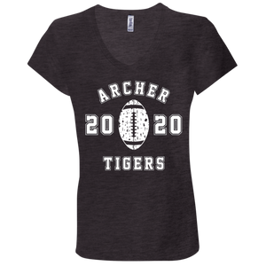 Archer Tigers Football 2020 Ladies' Jersey V-Neck T-Shirt