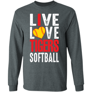 I Live Love Tigers Softball Special LS Tee