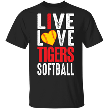 Load image into Gallery viewer, I Live Love Tigers Softball Special SS Tee