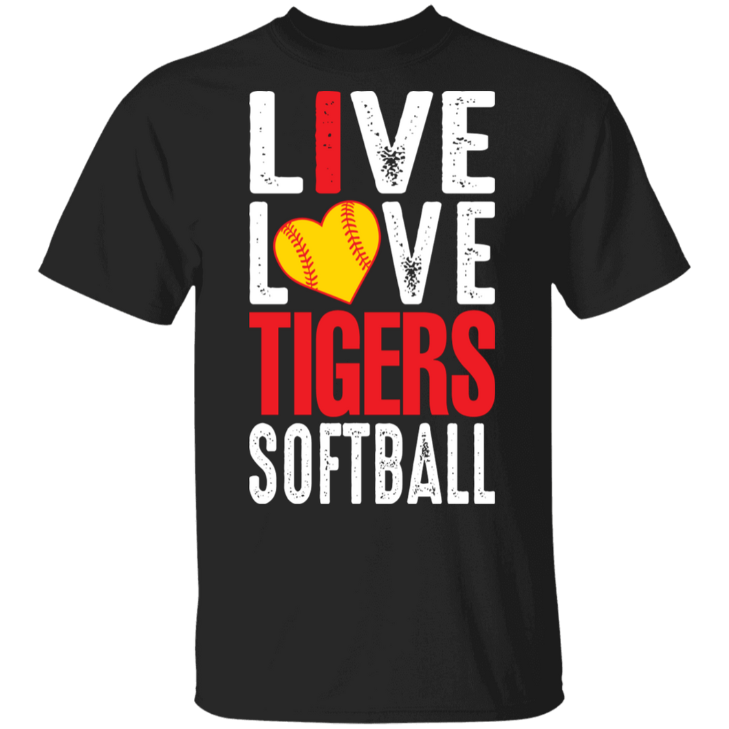 I Live Love Tigers Softball Special SS Tee