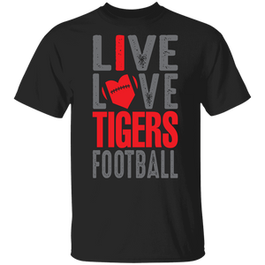 Live Love Tigers Football Youth Special SS Tee