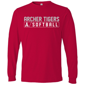 Archer Softball Bar Logo  LS T-Shirt