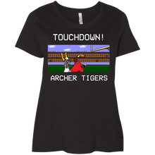 Load image into Gallery viewer, Archer Football 8 Bit Ladies' Curvy T-Shirt