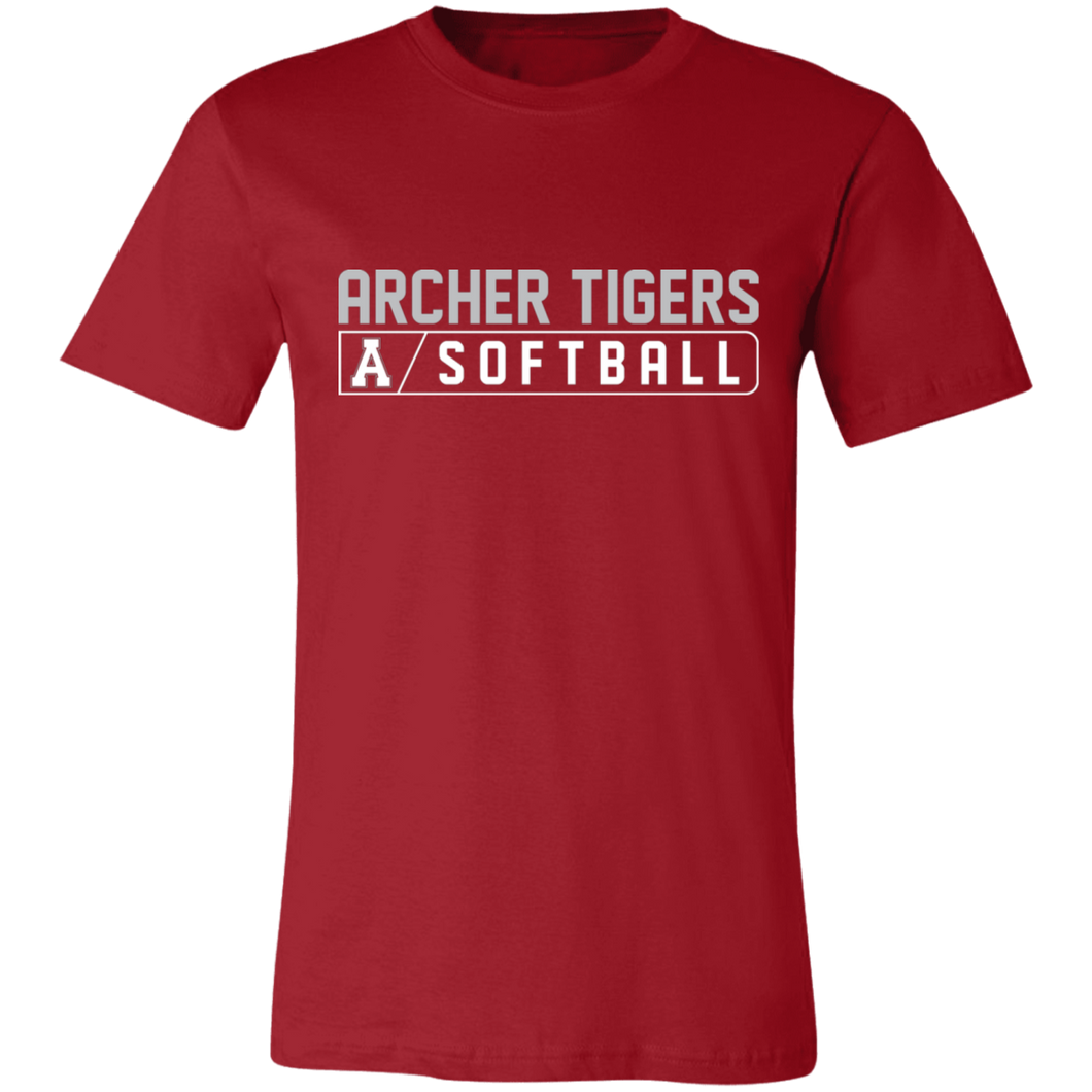 Archer Softball Bar Logo  Unisex Jersey Short-Sleeve T-Shirt