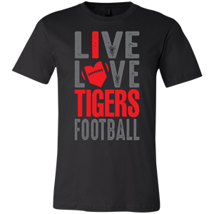 Live/Love Tigers Football Youth Jersey Short Sleeve T-Shirt