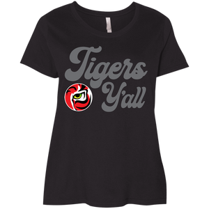 Tigers Y'all Ladies' Curvy T-Shirt