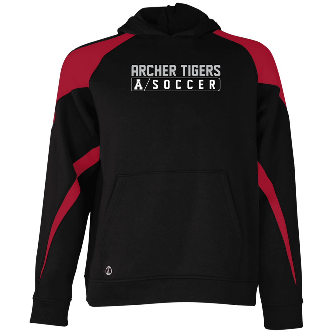 Archer Soccer Bar Logo  Youth Colorblock Hoodie