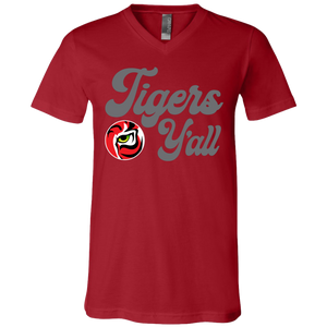 Tigers Y'all Jersey SS V-Neck T-Shirt