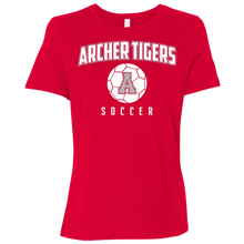 Load image into Gallery viewer, Archer Soccer Ball  Ladies' Relaxed Jersey Short-Sleeve T-Shirt