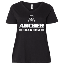 Load image into Gallery viewer, Archer Grandma  Ladies' Curvy V-Neck T-Shirt