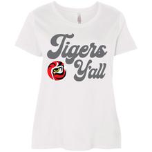 Load image into Gallery viewer, Tigers Y'all Ladies' Curvy T-Shirt