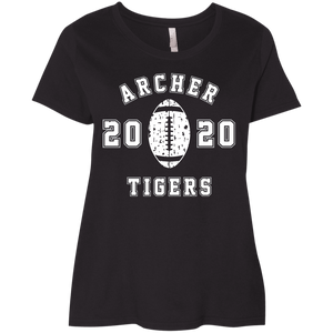 Archer Tiger Football 2020 Ladies' Curvy T-Shirt
