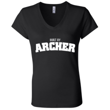 Load image into Gallery viewer, Built by Archer Ladies' Jersey V-Neck T-Shirt