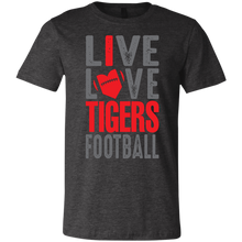 Load image into Gallery viewer, Live/Love Tigers Football Youth Jersey Short Sleeve T-Shirt