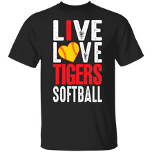 Load image into Gallery viewer, I Live Love Tigers Softball Youth Special SS Tee
