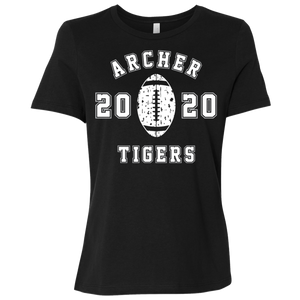Archer Tigers Football 2020 Ladies' Relaxed Jersey Short-Sleeve T-Shirt