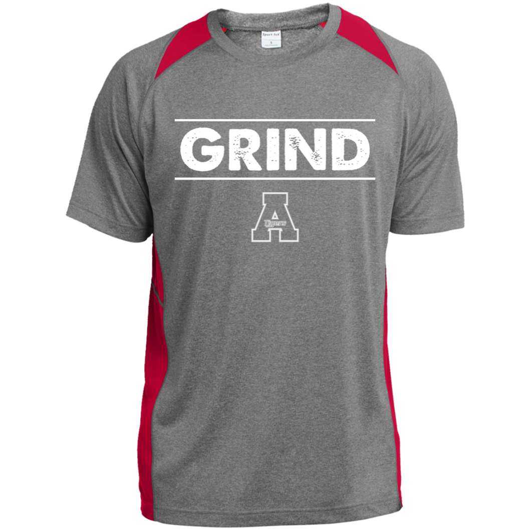 Grind Performance Heather Colorblock Poly T-Shirt