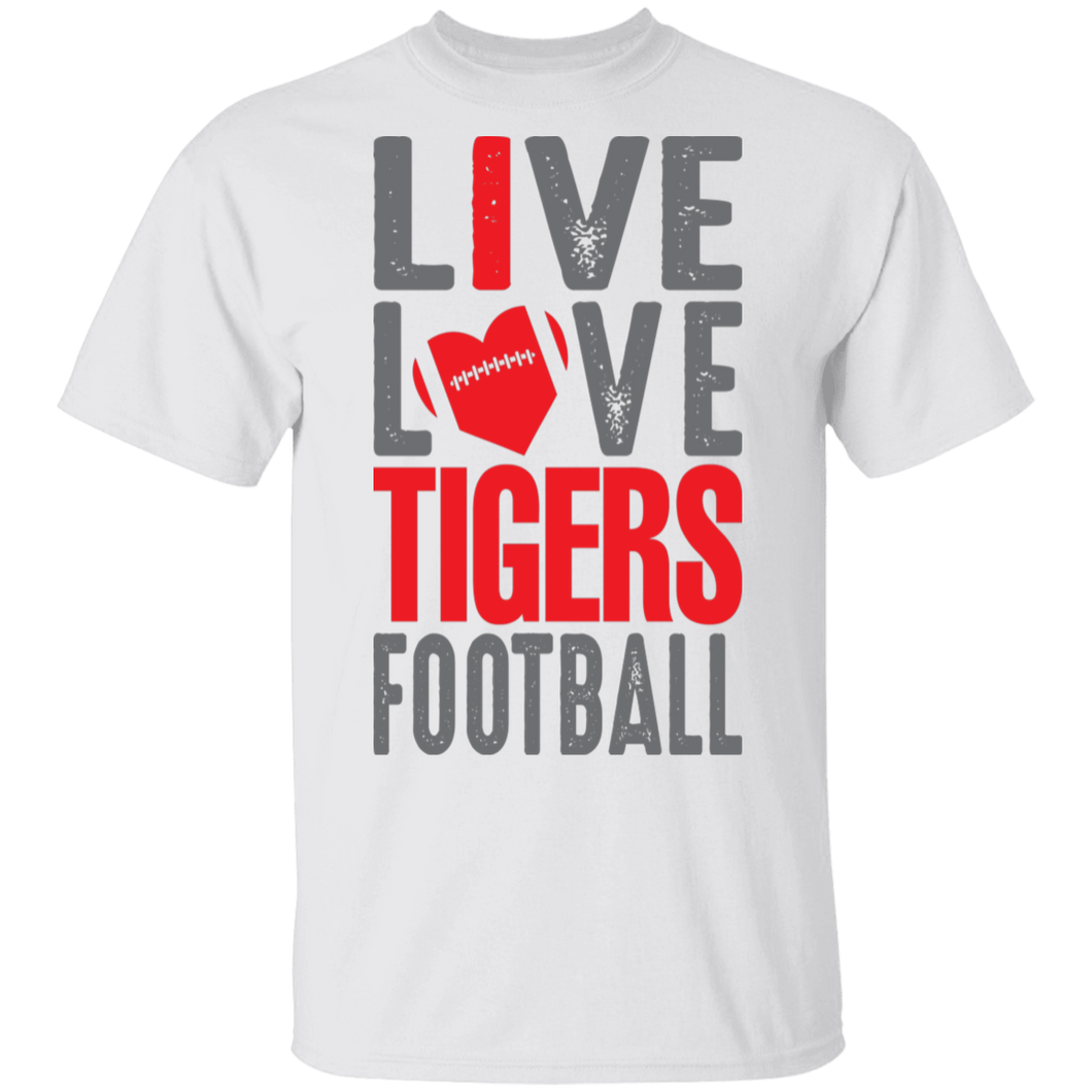 Live Love Tigers Football Special Tee
