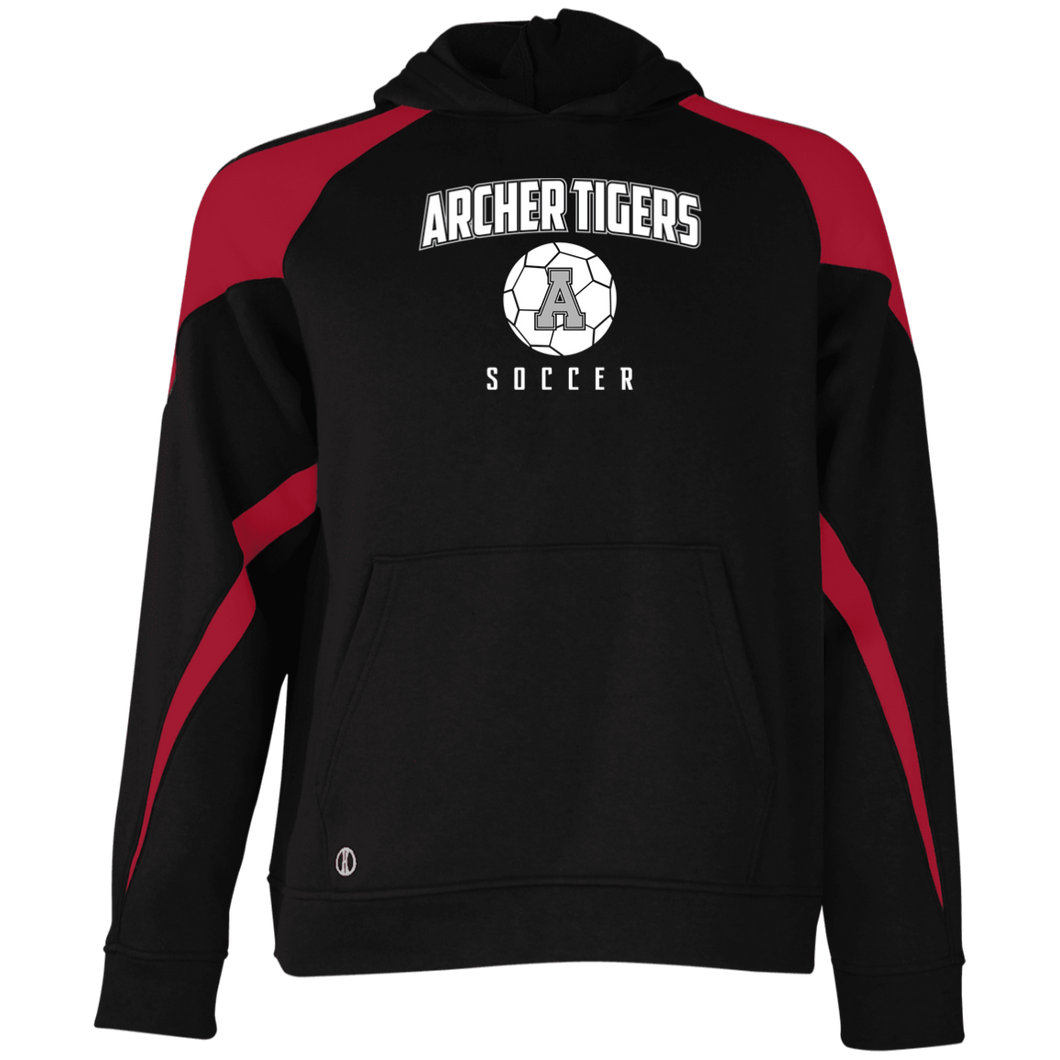 Archer Soccer Ball Youth Colorblock Hoodie