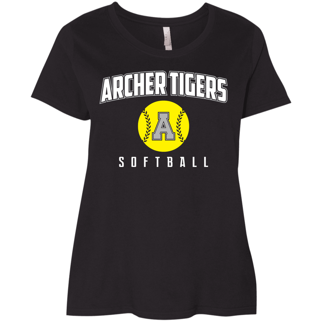 Archer Softball Logo Ladies' Curvy T-Shirt