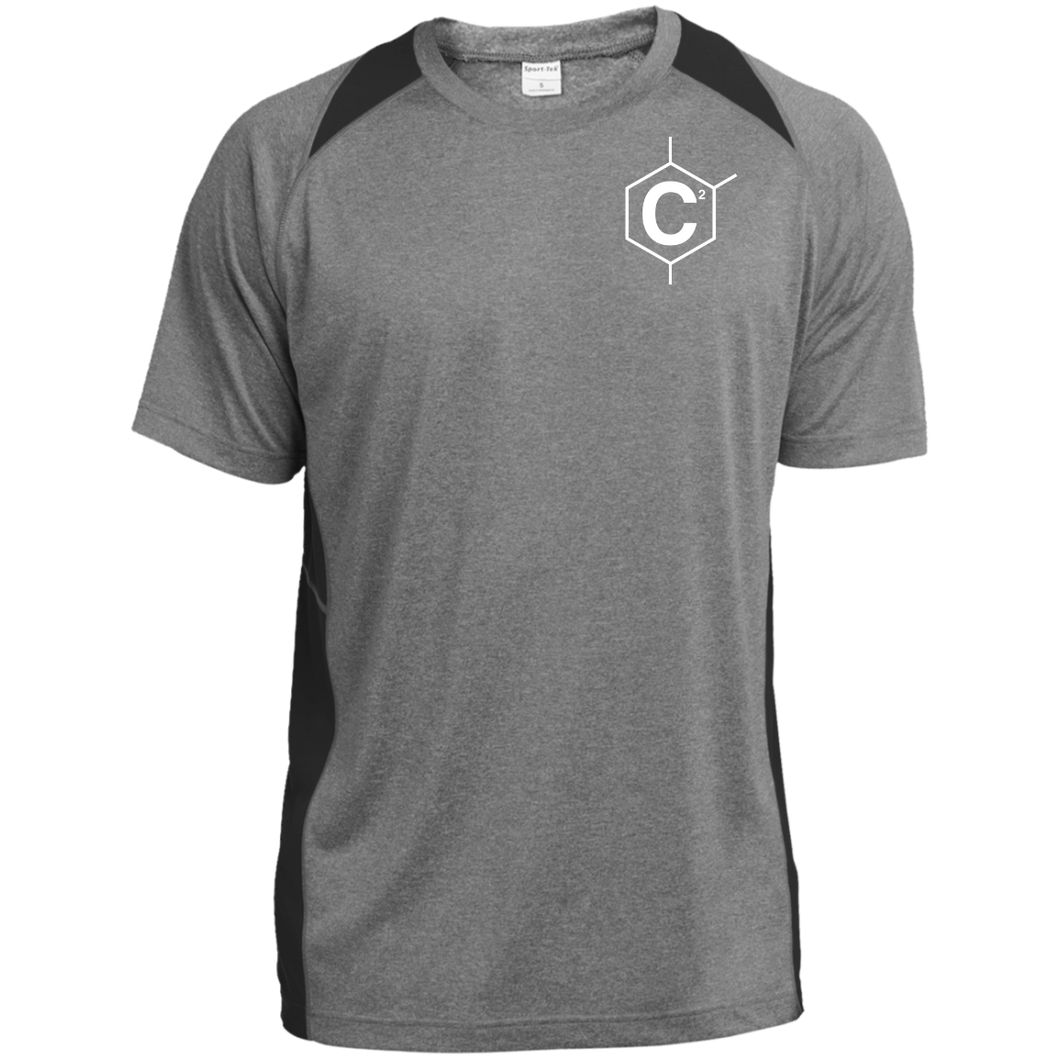 C2 Heather Colorblock Poly T-Shirt