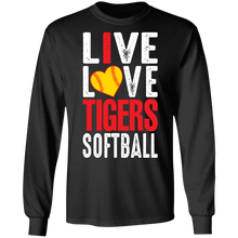 Load image into Gallery viewer, I Live Love Tigers Softball Special LS Tee