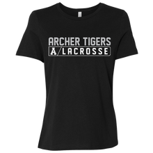 Load image into Gallery viewer, Archer LaCrosse Bar Logo Ladies' Relaxed Jersey Short-Sleeve T-Shirt