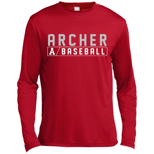 Archer Baseball Bar Logo L/S Dri-Fit Tee