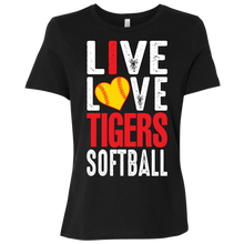 Load image into Gallery viewer, I Live Love Tigers Softball Ladies' Relaxed Jersey Short-Sleeve T-Shirt
