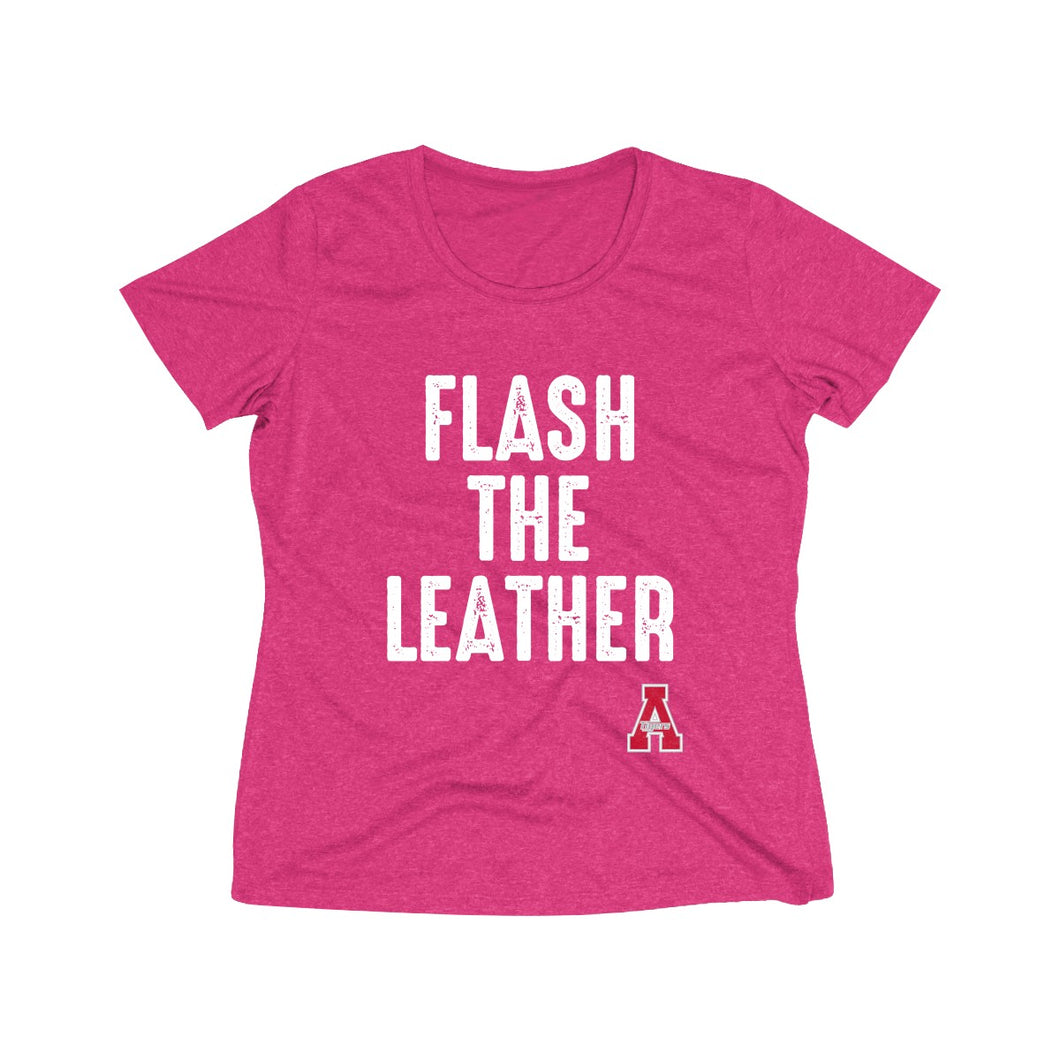 Archerwear Flash the Leather -       Ladies Heather Wicking Tee