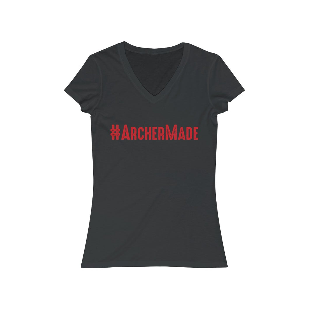 #archermade Ladies Jersey Short Sleeve V-Neck Tee