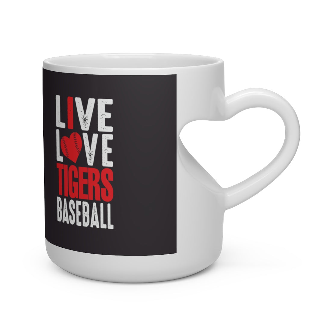Live Love Tigers Heart Shape Mug