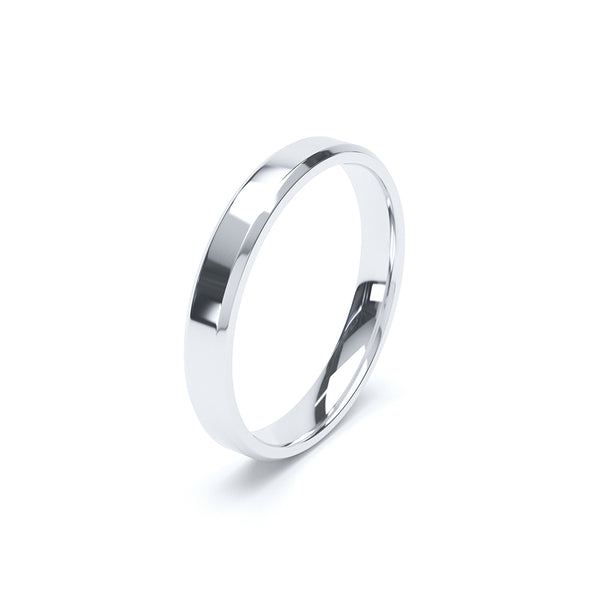 Bevelled Plain Wedding Band