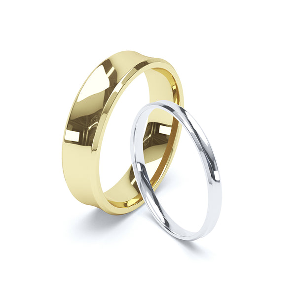 Concave Plain Wedding Band
