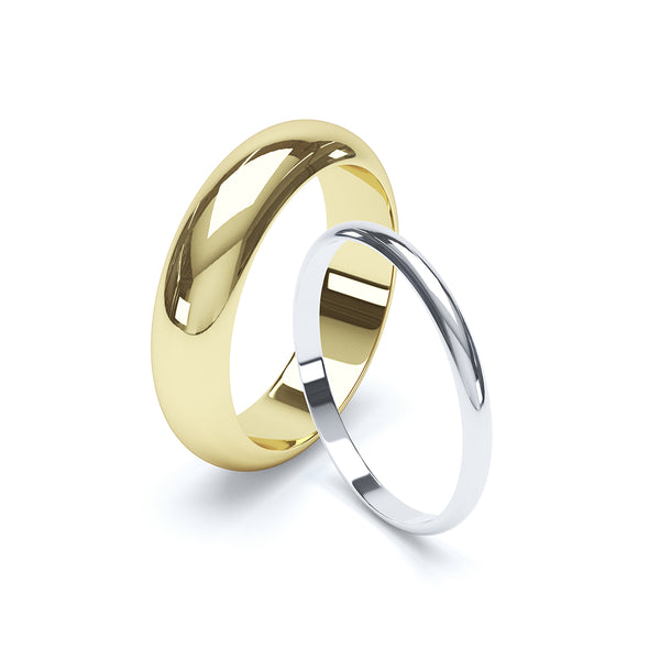 D Shape Plain Wedding Band