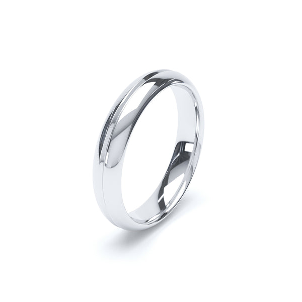 Full Court Grooved Plain Wedding Band