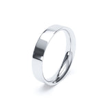 Flat Court Plain Wedding Band