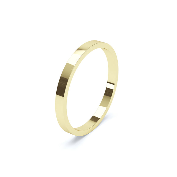 Flat Profile Plain Wedding Band