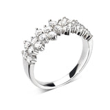 Multi Stone Half Eternity Ring