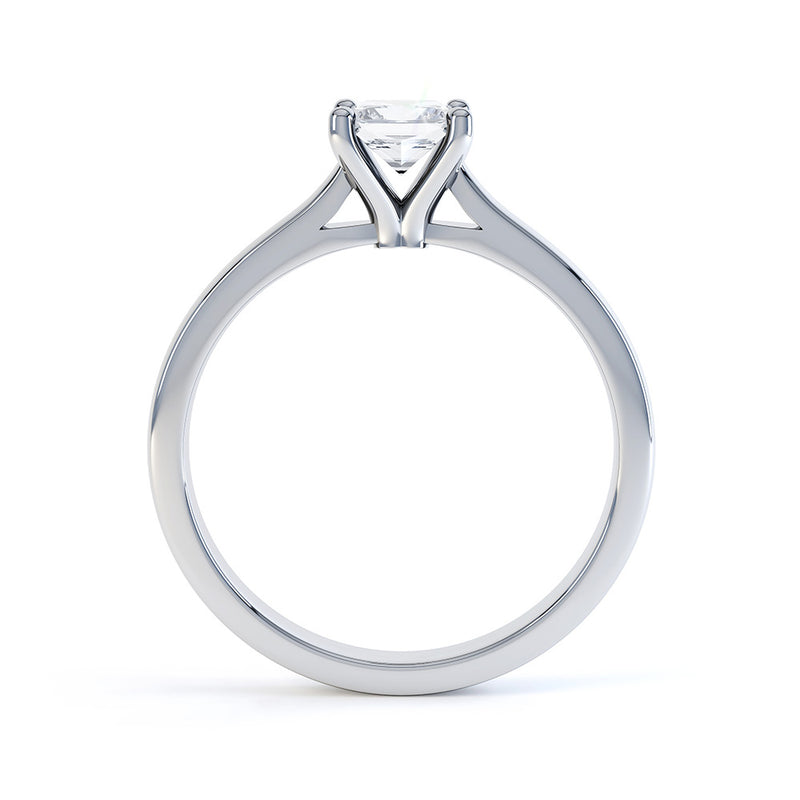 4 Claw Princess Cut Diamond Solitaire - JQD1017