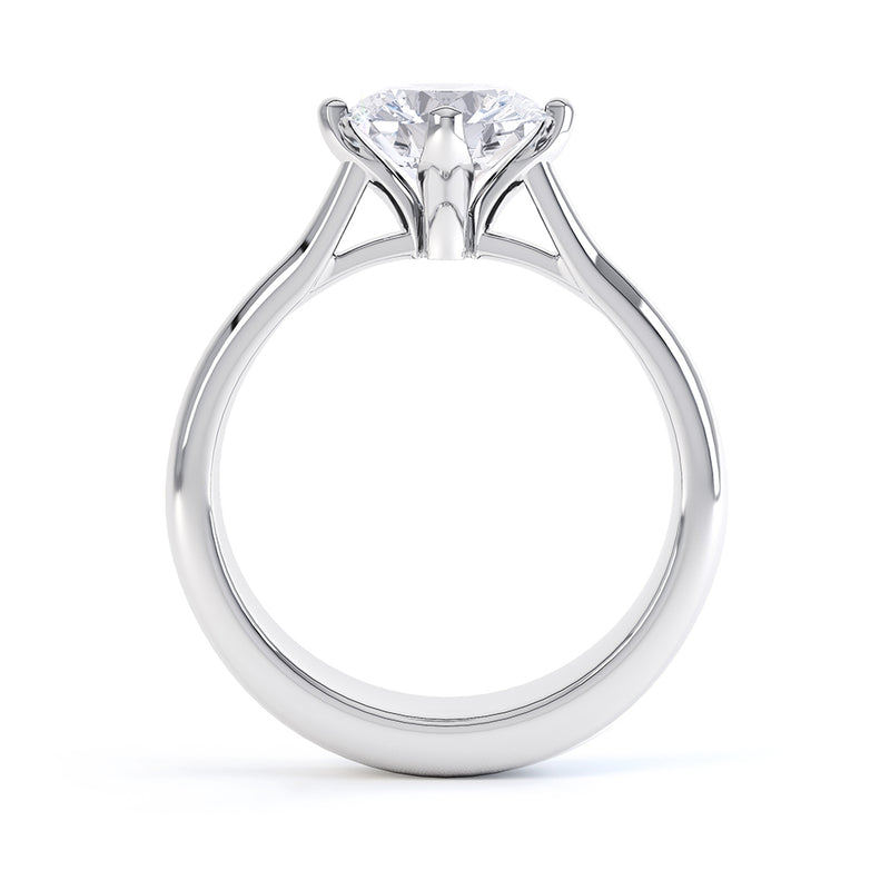 4 Claw Round Diamond Solitaire - JQD1008